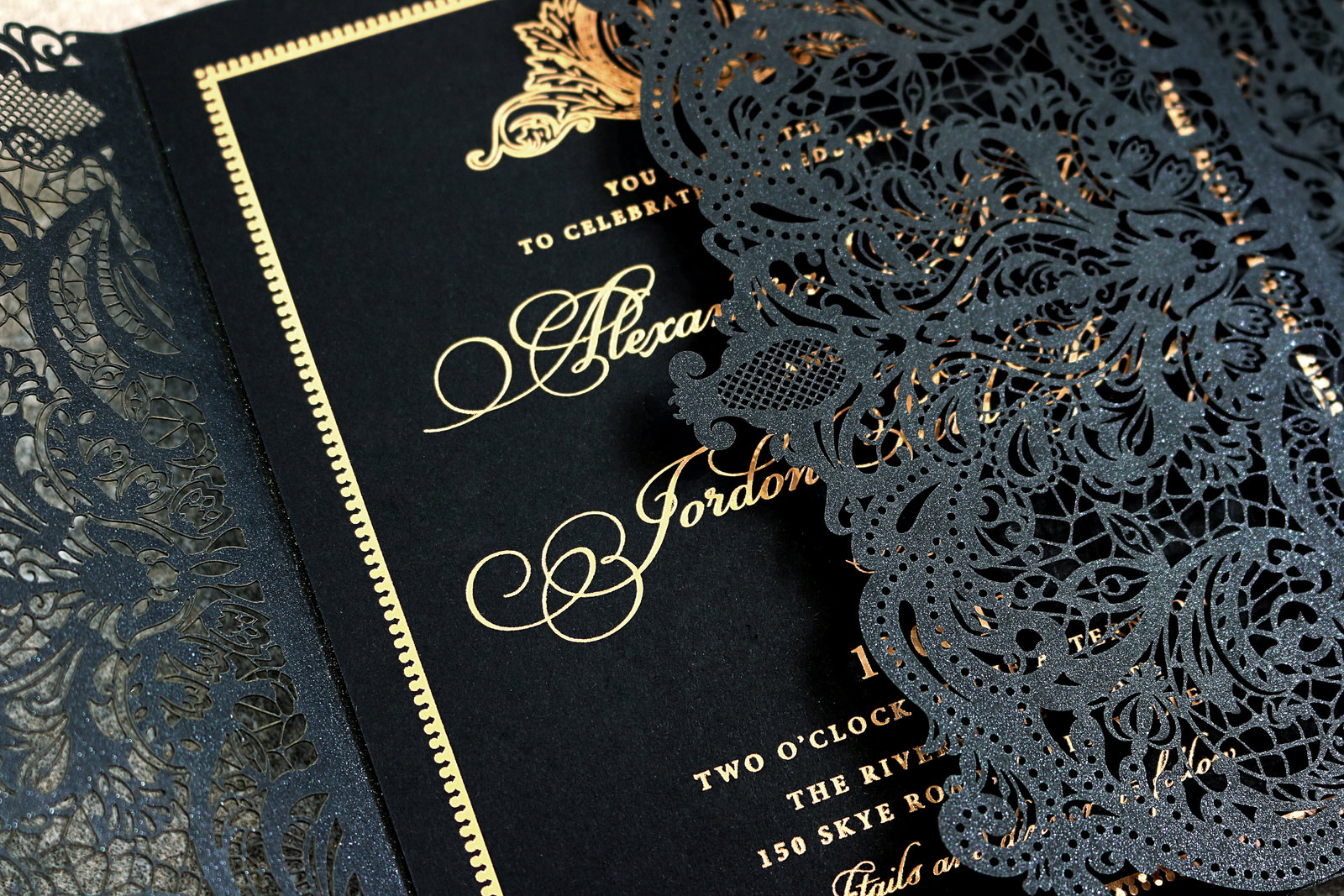 Black Race Laser cutting invite