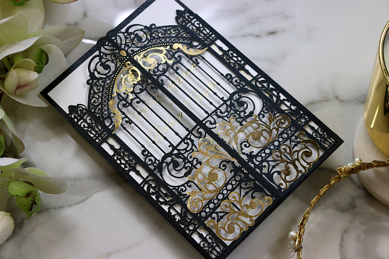 Black Gate Laser cutting invite